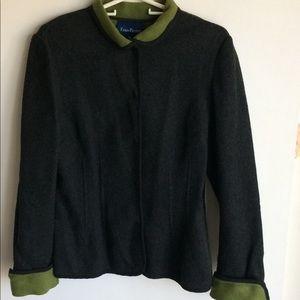 Evan Picone Lana Two Tone Dark Gray Jacket Size 12